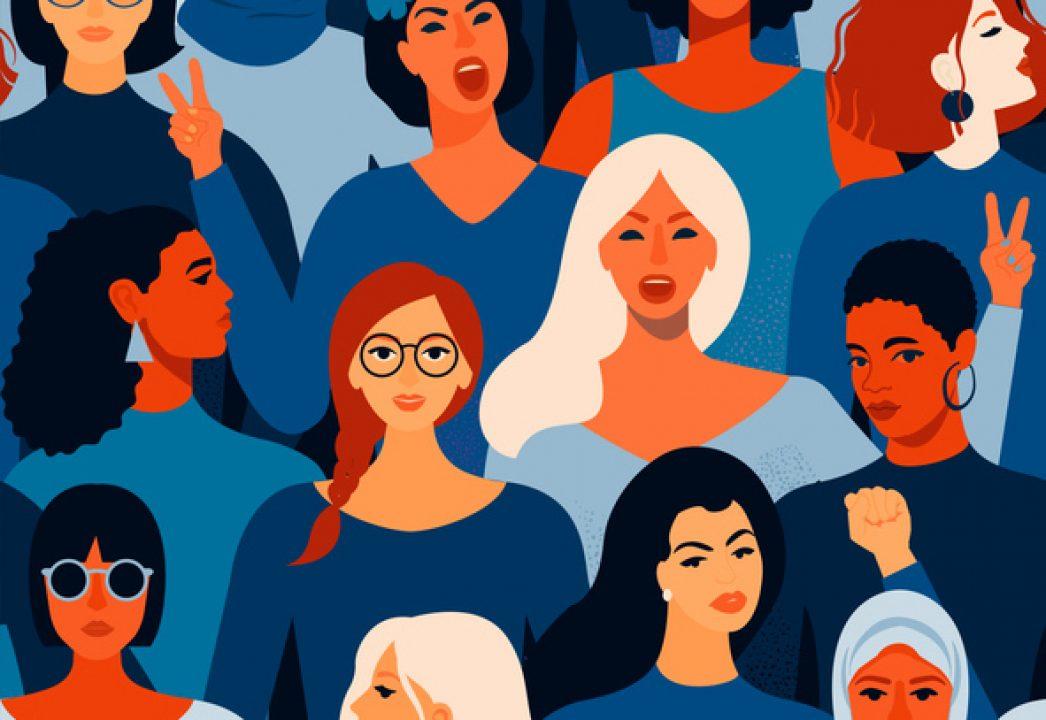 vector of empowered women