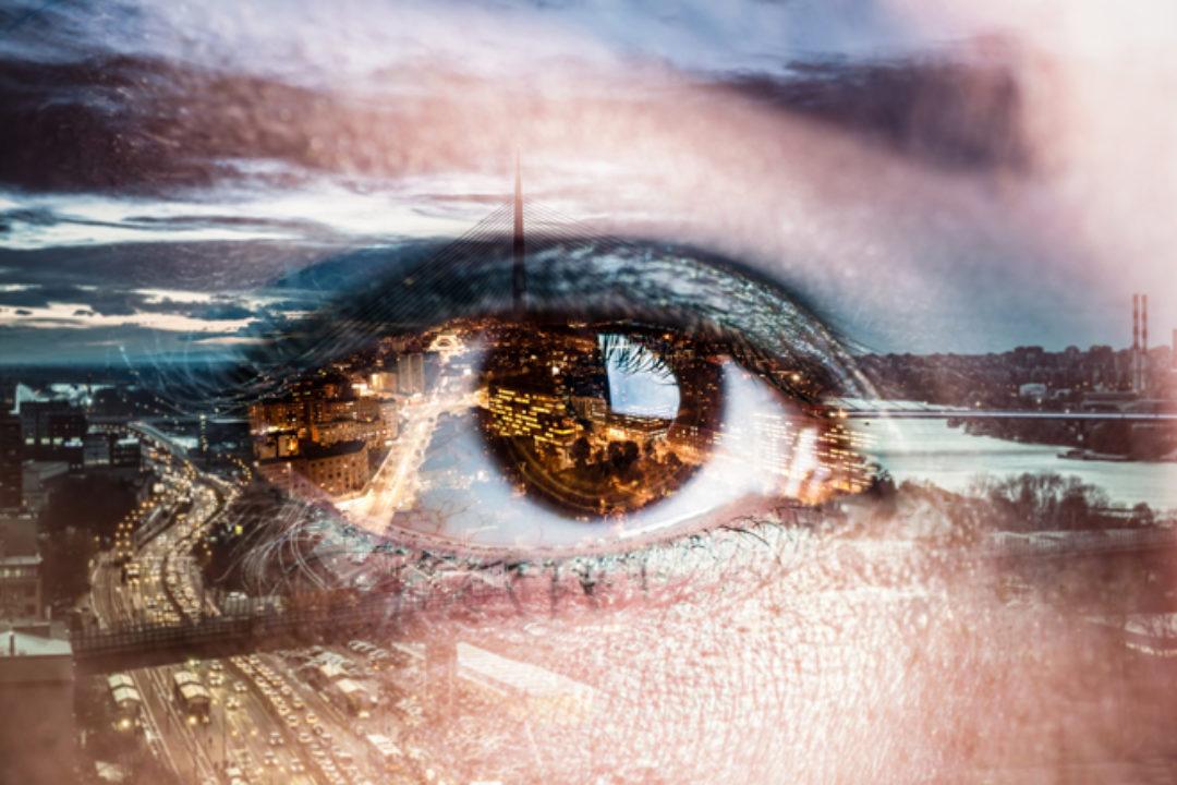 eye and shoreline
