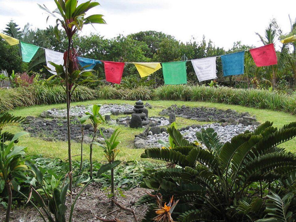 An altar in a grief garden