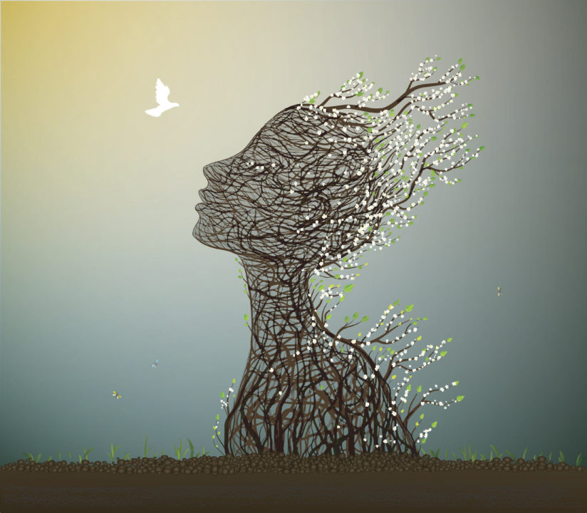 esoteric illustration of woman