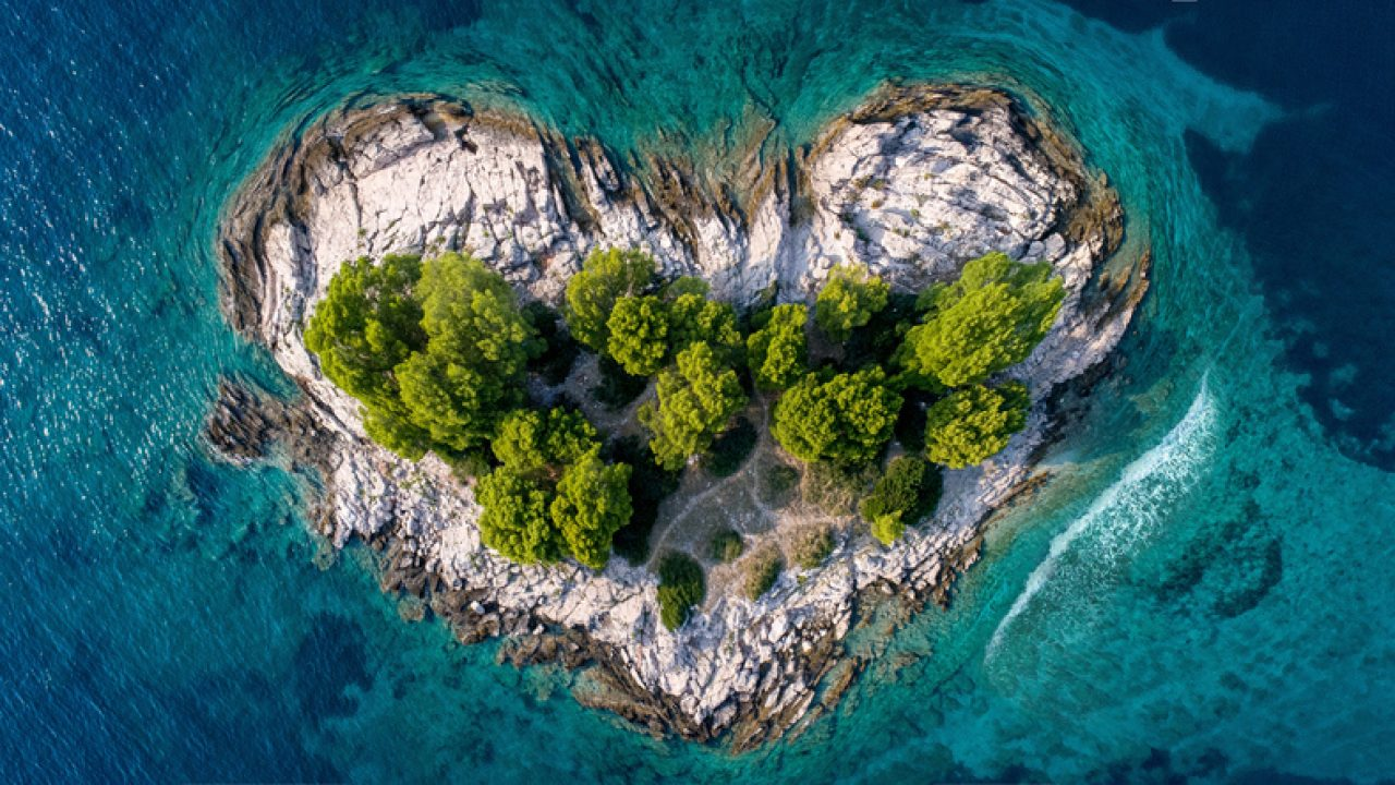 Heart shaped island representing insecure attachment style Island