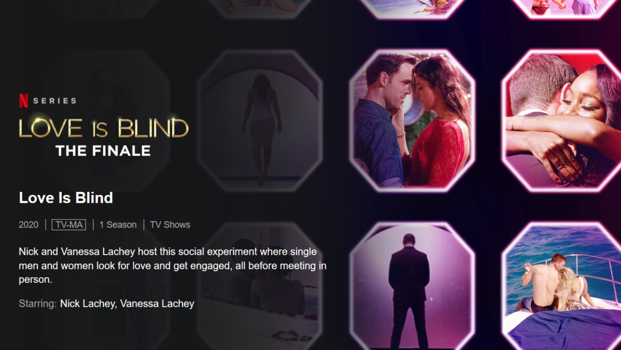 Netflix program Love Is Blind