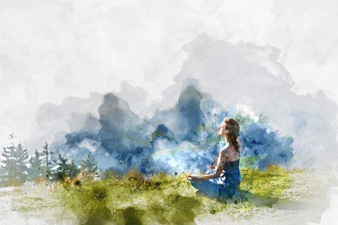 Watercolor of Free and wild woman