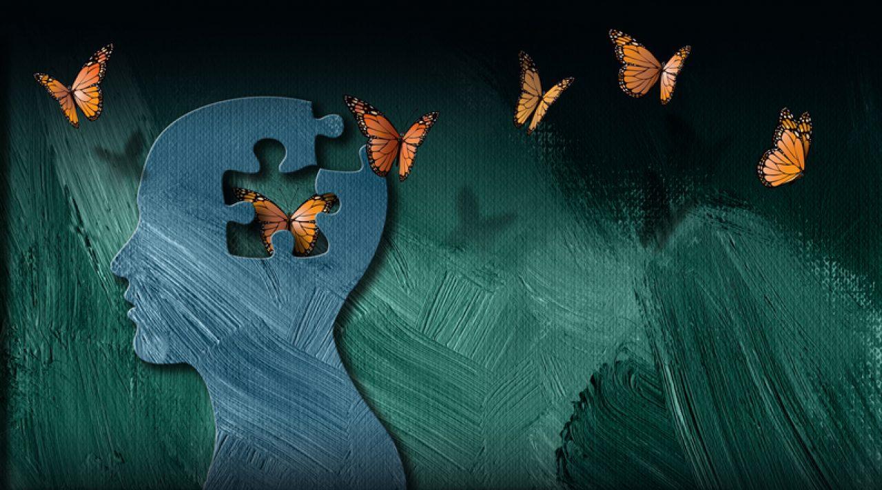 brain with butterflies