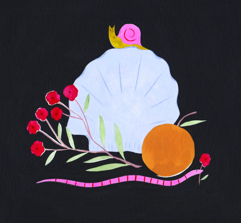 Painting by Estée  Prada title Nature Morte II