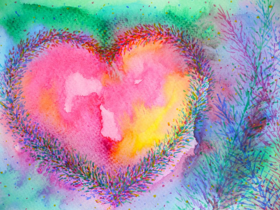 Painted healthy heart.