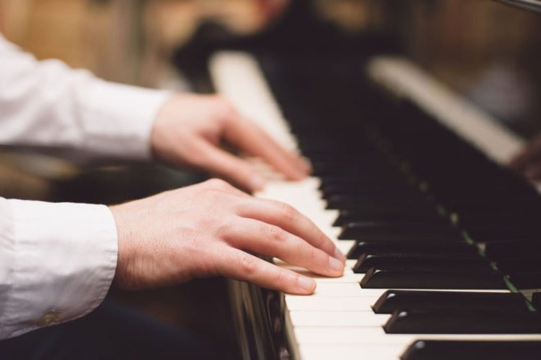 Man playing piano