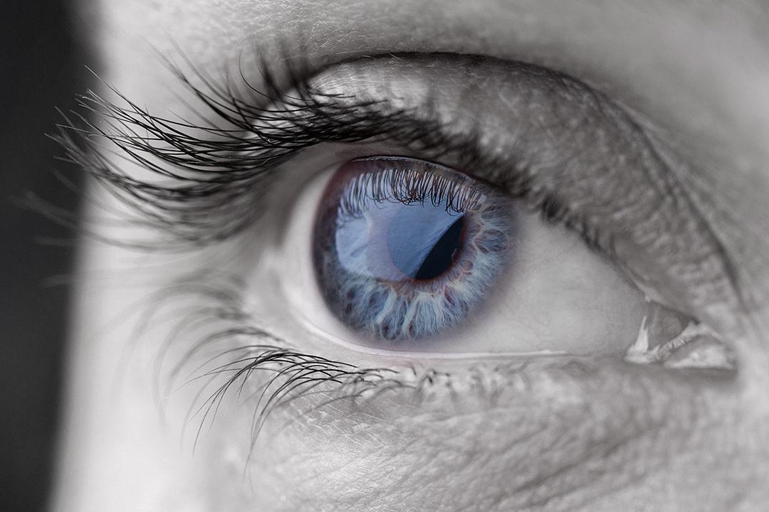 Closeup of blue eye