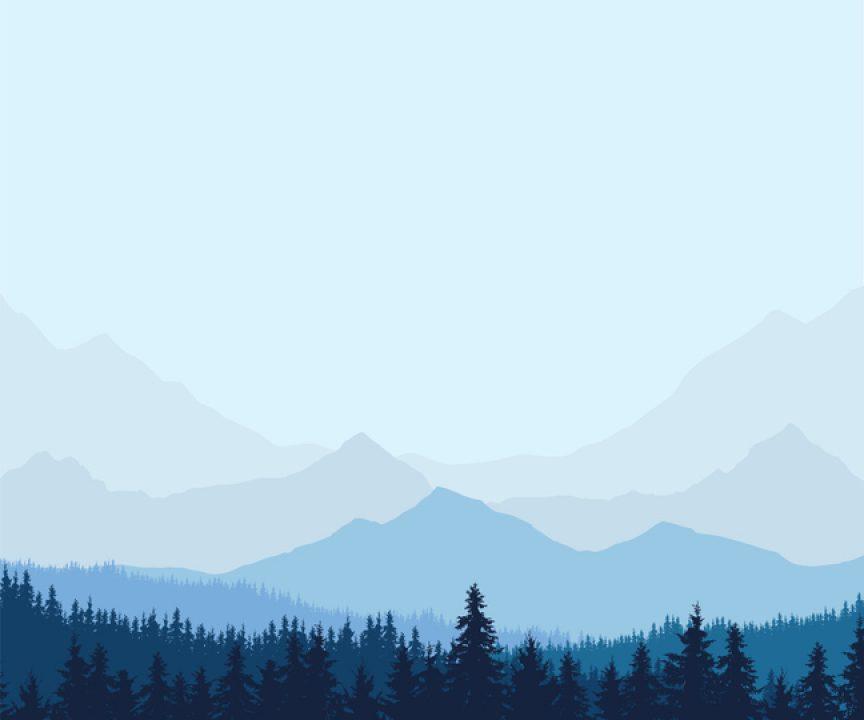 silent winter landscape