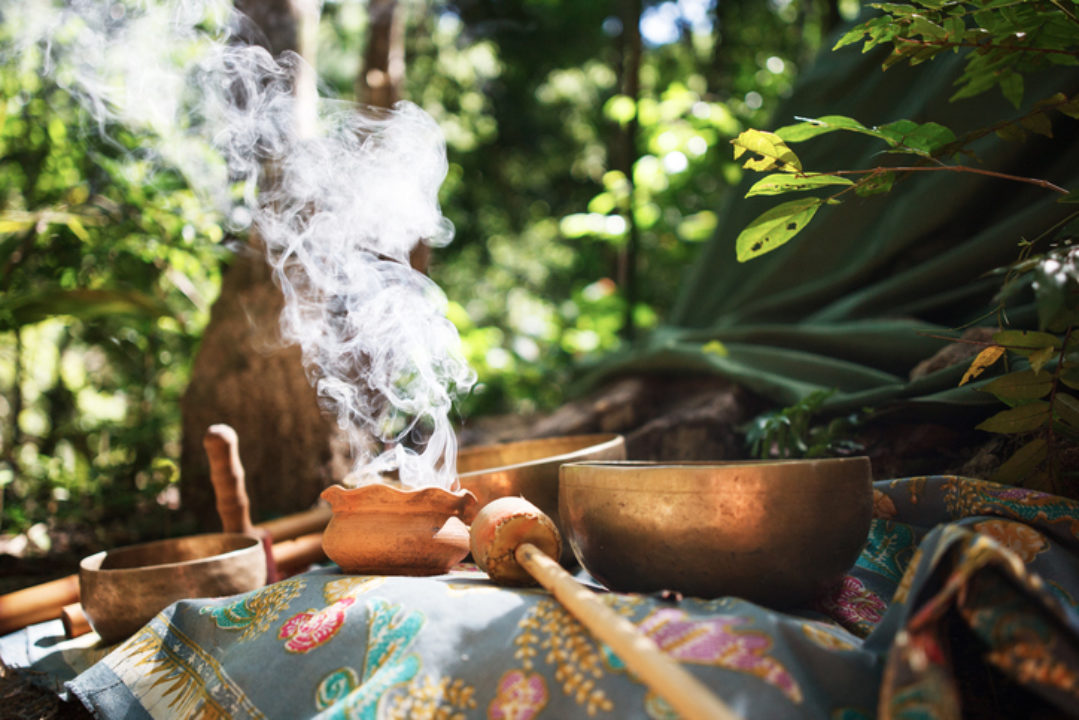 tools of a shaman for a ritual