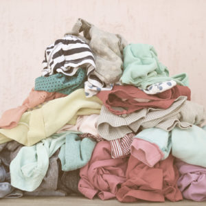 Pile of carelessly scattered clothes