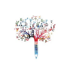 Word tree funneling into a pencil