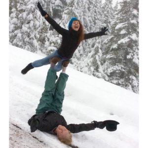 Acro Yoga in snow