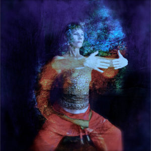 Woman in Qigong pose