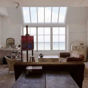 Artist loft with big windows
