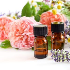 Rose and lavender oils