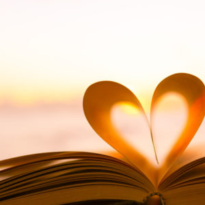 Book with pages shaped as a heart