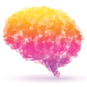 Colorful abstract illustration of the brain