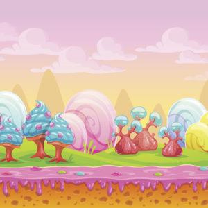 candy land to walk through