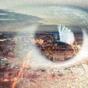 Eye and city image