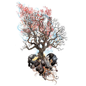 Illustration of tree growing from heart