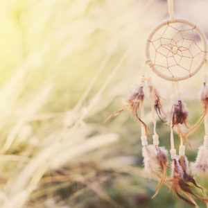 Dreamcatcher in natural light