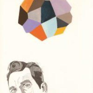 Abstract image of thinking man
