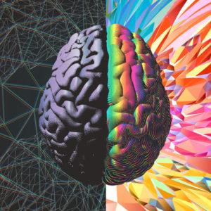 Brain vector illustrating creative inspiration