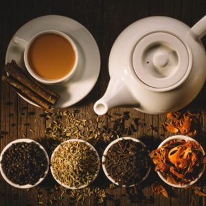 Indian tea with spices