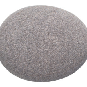 A plain gray rock