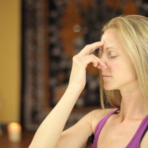 Christy Evans in meditation