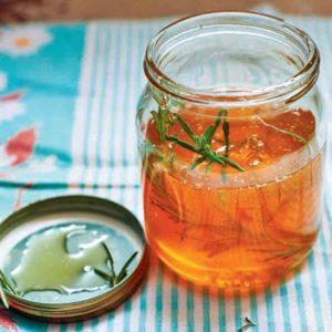 Herbal honey in jar