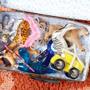 Suitcase of kids toys