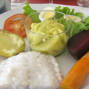 Garlic aioli and fresh vegetables
