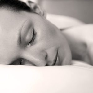 Woman sleeping peacefully