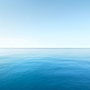 Blue seascape and sky