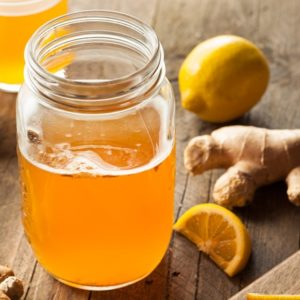 Ginger honey kombucha