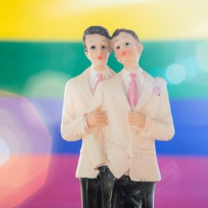 gay marriage cake topper