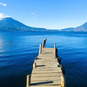 Guatemala's Lake Atitlan and volcanoes