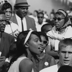 The March on Washington in 1963, when 250,000 people gathered on the National Mall