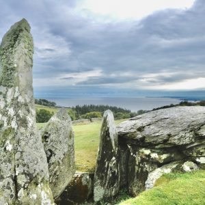 Cairn Holy Neolithic site - stock photo