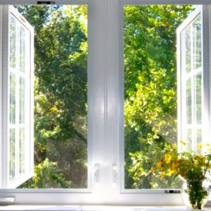 Large open windows with nature