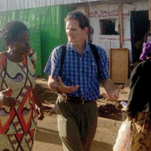 Image of author with woman in Haiti