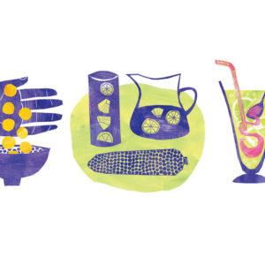 Illustrations of Peruvian superfoods