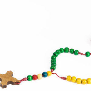 A colorful rosary illustrates a story about rediscovering the rosary