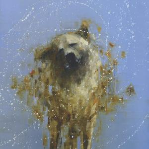 Rebecca Kinkead's painting Shake Yellow And Blue