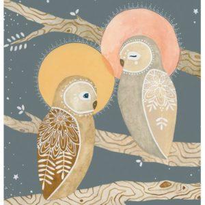 illustration of holy owls