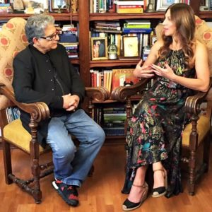 Suzanne Bryant and Deepak Chopra in conversation
