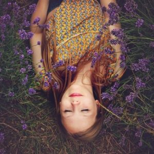 woman using lavender for anxiety