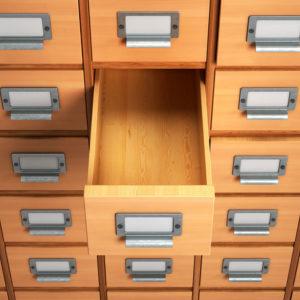 Old filing cabinet